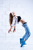 Dançarino moderno da mulher Imagens de Stock Royalty Free