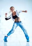 Dançarino moderno da mulher Imagem de Stock Royalty Free