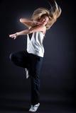 Dançarino moderno da mulher na ação Fotografia de Stock Royalty Free