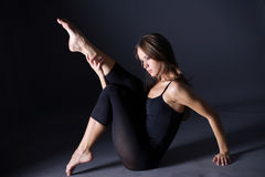 Dançarino moderno do estilo Fotografia de Stock Royalty Free