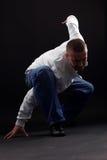 Dançarino moderno do homem imagens de stock