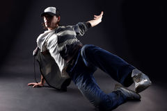 Dançarino moderno do homem foto de stock royalty free