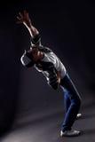 Dançarino moderno do homem fresco fotos de stock