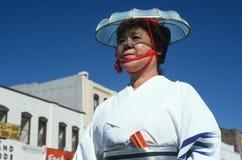 Dançarino na 49th parada da semana de Nisei Fotos de Stock Royalty Free