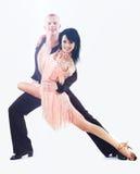 Dançarino na ação isolado no branco Imagem de Stock Royalty Free