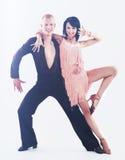 Dançarino na ação isolado no branco Fotos de Stock