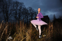 Dançarino nas sapatilhas foto de stock
