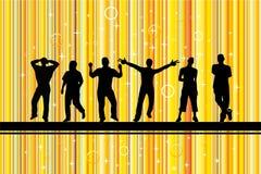 Dançarino no fundo do ouro Ilustração do Vetor