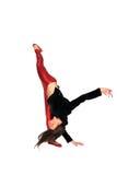Dançarino novo com casaco de cabedal imagem de stock royalty free