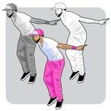 Dançarino novo de hiphop Fotografia de Stock