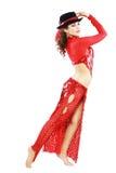 Dançarino oriental do tango Fotografia de Stock