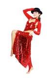 Dançarino oriental do tango Fotografia de Stock Royalty Free