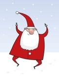 Dançarino Papai Noel Fotos de Stock
