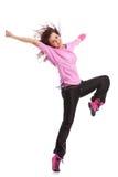 Dançarino que levanta com o pé levantado imagem de stock royalty free