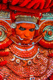 Dançarino ritual colorido em Kerala Fotografia de Stock Royalty Free