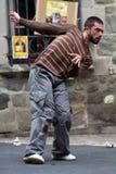 Dançarino torcido na rua Foto de Stock Royalty Free