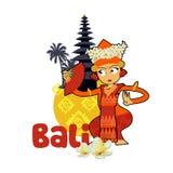 Dançarino tradicional de Bali ilustração royalty free