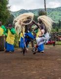 Dançarino tribal rwanda Imagens de Stock