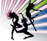 Dançarinos ilustração royalty free
