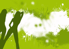 Dançarinos abstratos verdes Fotografia de Stock