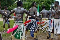Dançarinos africanos fotografia de stock royalty free