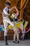 Dançarinos checos fotografia de stock