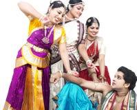 Dançarinos clássicos indianos Fotografia de Stock Royalty Free