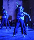 Dançarinos claros azuis foto de stock
