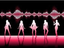 Dançarinos cor-de-rosa Foto de Stock Royalty Free