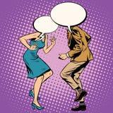 Dançarinos da bolha da mulher do homem ilustração do vetor