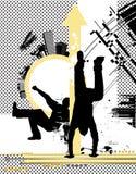 Dançarinos da cidade. Ilustração do Vetor