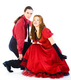 Dançarinos da Dança-voogie foto de stock royalty free