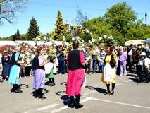 Dançarinos da flor, carnaval de Ashover. Fotografia de Stock