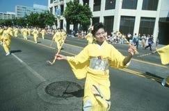 Dançarinos da gueixa na 49th parada da semana de Nisei Fotos de Stock