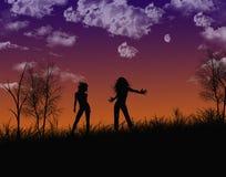Dançarinos da noite ilustração do vetor
