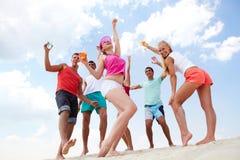 Dançarinos da praia Foto de Stock Royalty Free