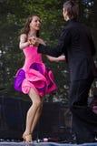 Dançarinos da salsa Imagem de Stock Royalty Free