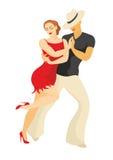 Dançarinos da salsa Foto de Stock