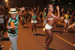 Dançarinos da samba Imagem de Stock