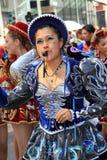Dançarinos da samba - traje surpreendente Foto de Stock Royalty Free