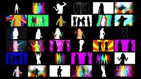 Dançarinos da sombra imagens de stock