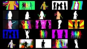 Dançarinos da sombra fotografia de stock royalty free