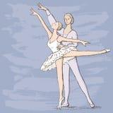 Dançarinos de bailado Fotos de Stock Royalty Free
