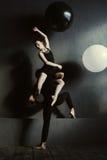 Dançarinos de bailado inspirados que realizam suas ideias da arte Imagem de Stock