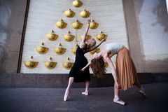 Dançarinos de bailado na rua da cidade Foto de Stock