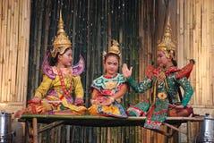 Dançarinos de Banguecoque fotos de stock