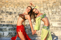 Dançarinos de barriga foto de stock
