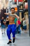 Dançarinos de Bollywood Fotos de Stock