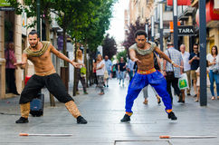 Dançarinos de Bollywood Fotos de Stock Royalty Free