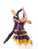 Dançarinos de encontro ao fundo preto Foto de Stock